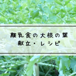 離乳食 大根の葉
