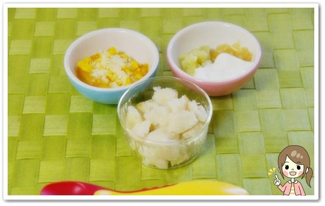 離乳食101日1回目スープパン粥