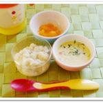 離乳食107日1回目スープパン粥