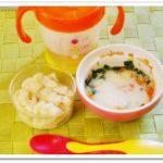 離乳食110日1回目スープパン粥
