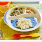 離乳食111日1回目スープパン粥