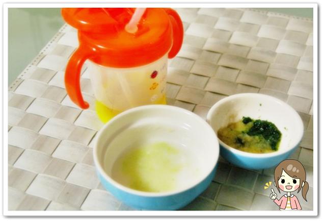 離乳食37日2回目キャベツミルク粥