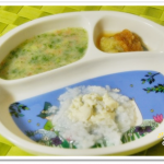 離乳食68日2回目豆腐粥