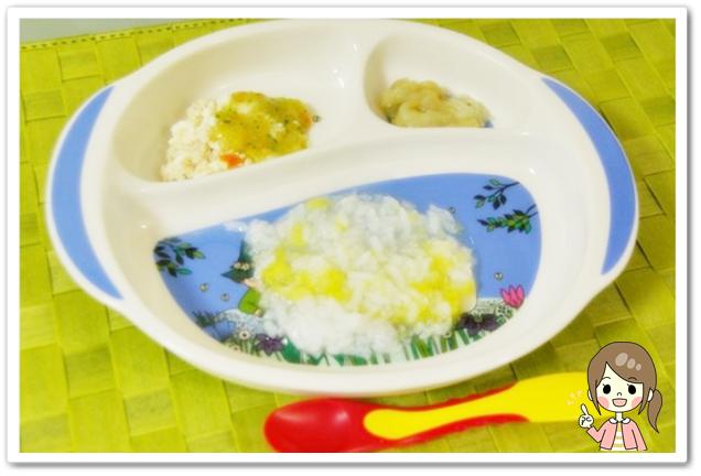 離乳食69日2回目中期白菜粥