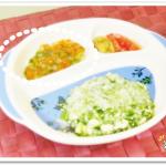 離乳食74日2回目にんじんとかぶの野菜スープ煮