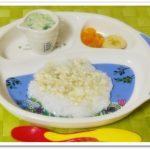 離乳食95日2回目豆腐のあんかけ粥