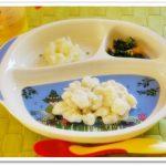 離乳食96日1回目【中期】ミルクパン粥