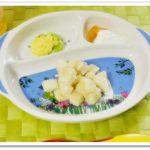 離乳食103日1回目枝豆の卵ソース