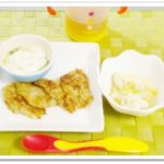 離乳食129日2回目納豆とキャベツのおやき