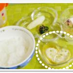 離乳食136日3回目豆腐茶巾
