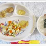 離乳食138日3回目ほうれん草と鯛のお粥