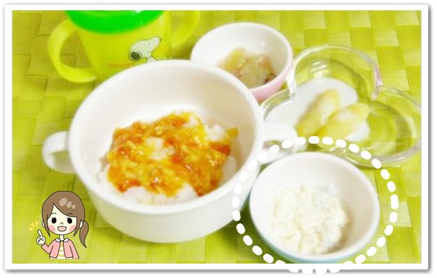 離乳食143日3回目【後期】しらすと豆腐の和え物