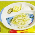 離乳食146日3回目高野豆腐とブロッコリーのとろとろ丼
