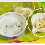離乳食151日3回目炒り豆腐