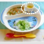 離乳食77日1回目豆乳かぼちゃスープ