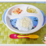 離乳食84日2回目豆腐のあんかけ丼