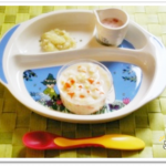 離乳食85日1回目豆乳うどん