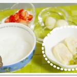 離乳食155日3回目高野豆腐の含め煮